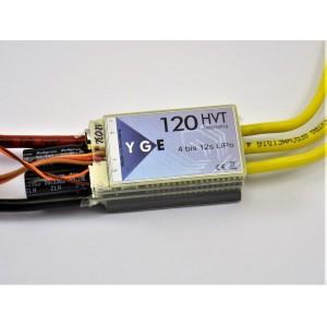 YGE 120 HVT brushless controller with telemetry - Helidigital