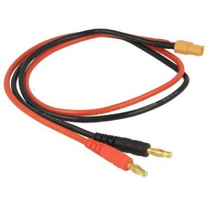 ISDT connection cable to power supply - XT60 / 4mm banana plug